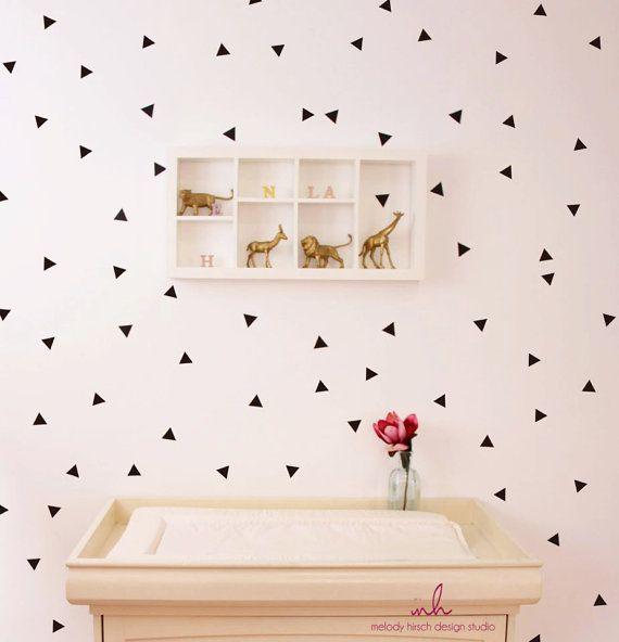 triangles wall decal, mini triangle wall decal, triangle wall sticker, geometric wall decal, shapes wall decal, nursery wall decal