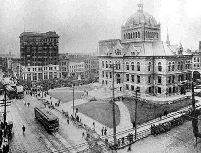 Black and White Picture of Courthouse. Find it: http://www.lexingtonhistorymuseum.org/#