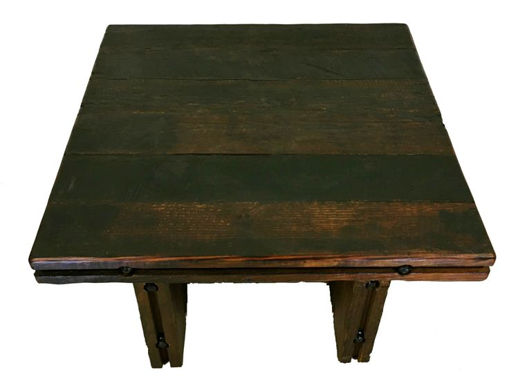 Own a piece of history with this solid wood, heart pine coffee table. The rustic beauty of this piece, created with reclaimed historic wood will make a bold statement in your home. Reclaimed heart pine Solid wood top and legs Rustic fasteners join all parts of this sturdy piece This made in America coffee table, [...]Read More