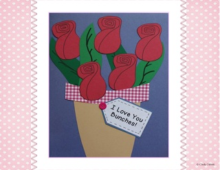 Super easy, no fail, Mother's Day card, craft and literacy activities.