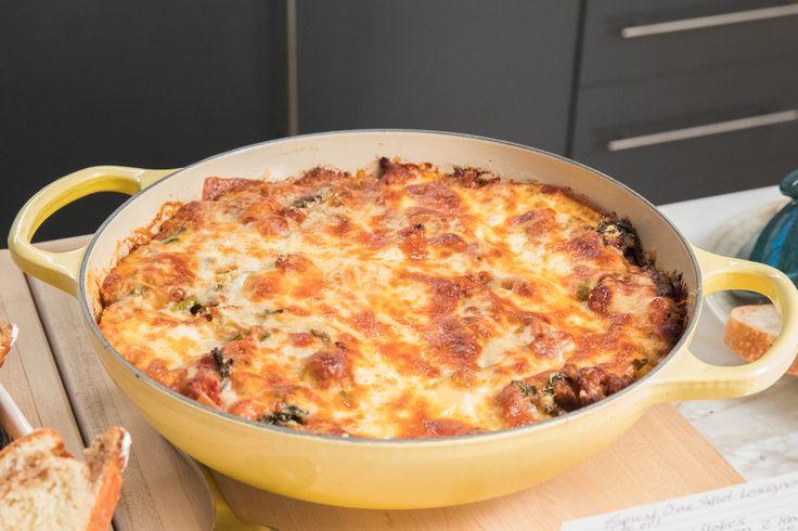 Spicy One Skillet Lasagna