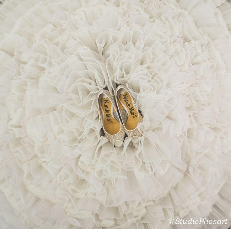 www.photographergreece.com #weddingshoes  #gown #details  #dreamwedding