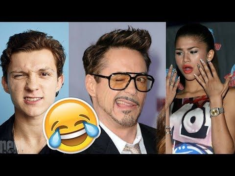 Spider-Man: Homecoming Cast Funny Moments - Tom Holland & Robert Downey Jr. - 2017 - YouTube