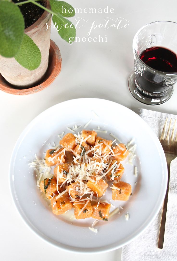 Easy homemade sweet potato gnocchi recipe - an incredibly easy & flavorful fall dish!
