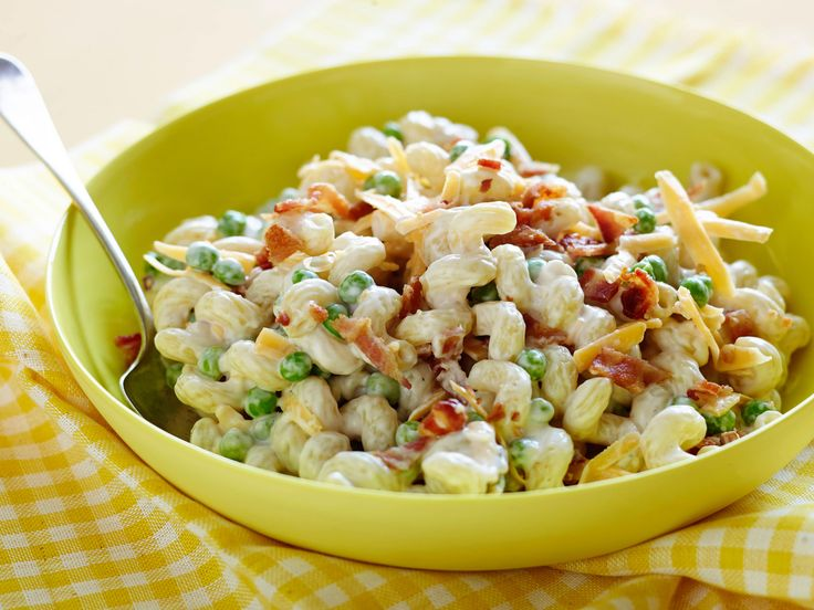 Peas and Pasta Salad Recipe : Sunny Anderson : Food Network - FoodNetwork.com Minus the peas of course!