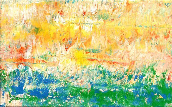 Manolis Pentes 'Landscape VII' 2016 acrylic 78X47cm