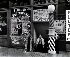 #TeachNYPL #NYC #History Our Study Guide to the Lower East Side: http://www.nypl.org/sites/default/files/lowereastsideguide-final.pdf [Photo from NYPL Digital Collections: Blossom Restaurant, 103 Bowery, Manhattan (Oct 1935)].