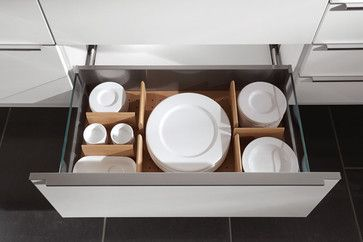 well organised contemporary cabinet and drawer organizers