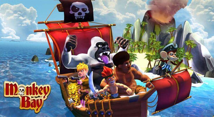 Monkey Bay: Piraten-Aufbauspiel mit Tower Defense Echtzeitschlachten