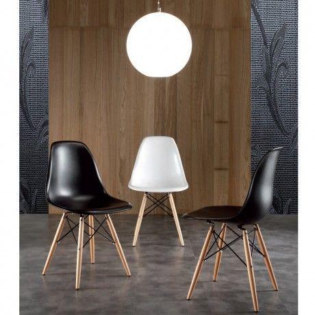 Chaise Design Bergen Coque Blanche Ou Noire Id Es Pour