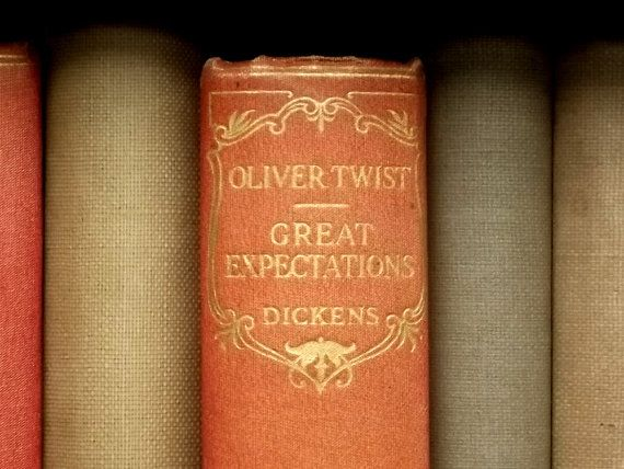 Oliver Twist and Great Expectations by Charles Dickens vintage book