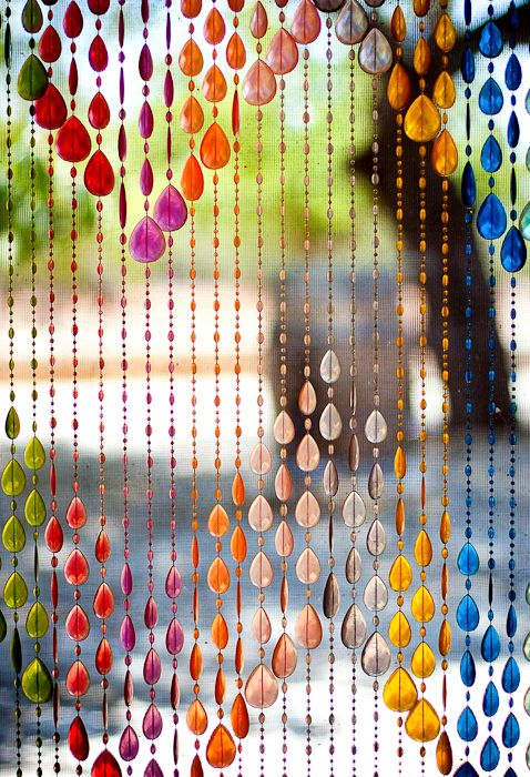 -beads curtain colors christal. My Grandparents had this hanging in entry way to living room.