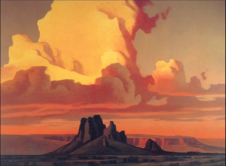 Ed Mell landscape - look at those cloud colors!