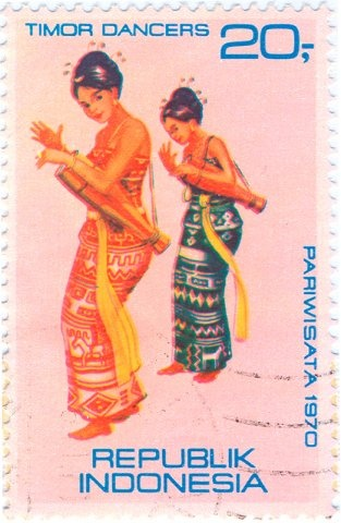 1970 Indonesia - Female dancers from Timor