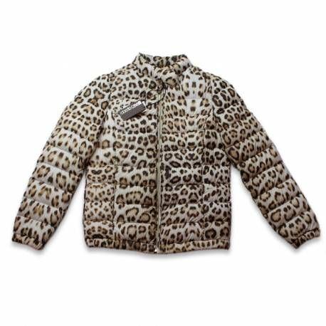 DOWN JACKET BY ROBERTO CAVALLI Spectacular leopard patterned jacket. Interior feather and down. Black Interior. Zipper and two pockets. With the signing of Don Roberto. Style and quality Made in Italy. 455€