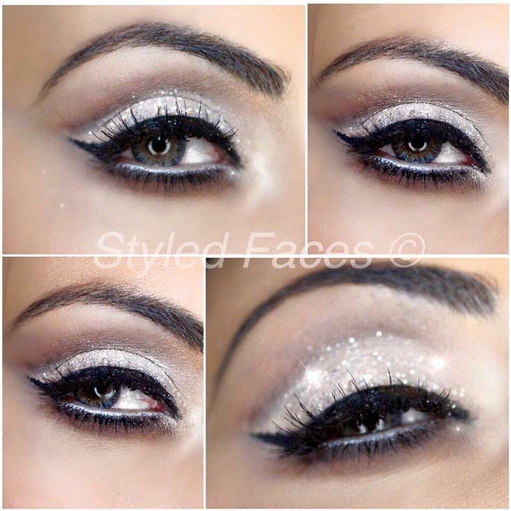 New Year's Eve glitter eye makeup - used winter wonderland glitter from Eye Kandy cosmetics