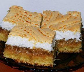 Reteta culinara Desert prajitura cu mere si bezea din categoria Prajituri. Cum sa faci Desert prajitura cu mere si bezea