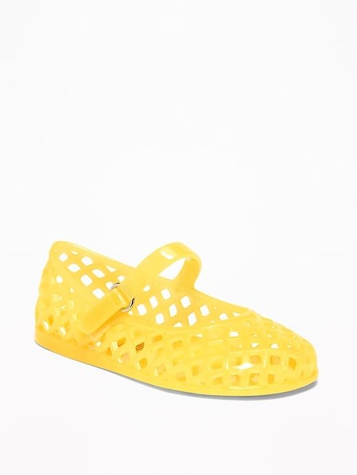 online retailer 0bdff bc7bb Old Navy Toddlers  Basket-Weave Jelly Ballet Flats It Butter Be Size 10.  product Little Girl Shoes ...