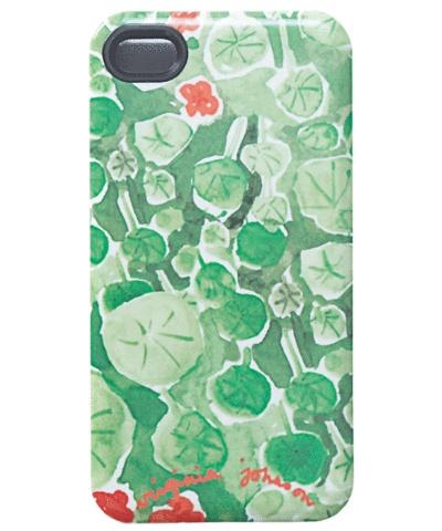 Virginia Johnson iPhone case, nasturtium