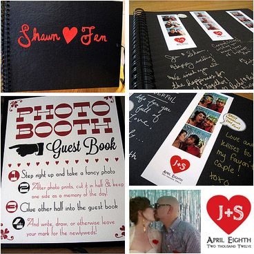 sign for photobooth to be used with original guest book