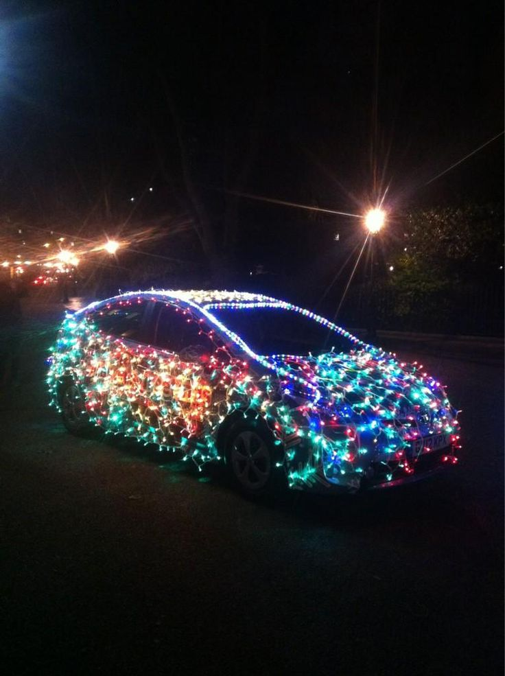Toyota Prius Decked Out In Christmas Lights Toyota