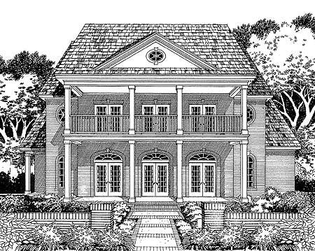 Plantation Home Plan. Love!