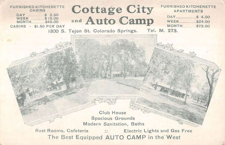 Colorado Springs, CO -  Cottage City Auto Camp