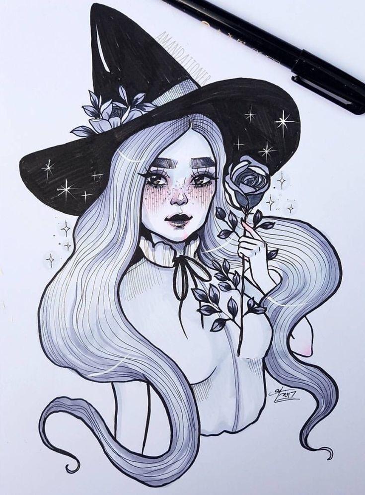 ведьмочки рисунки карандашом
