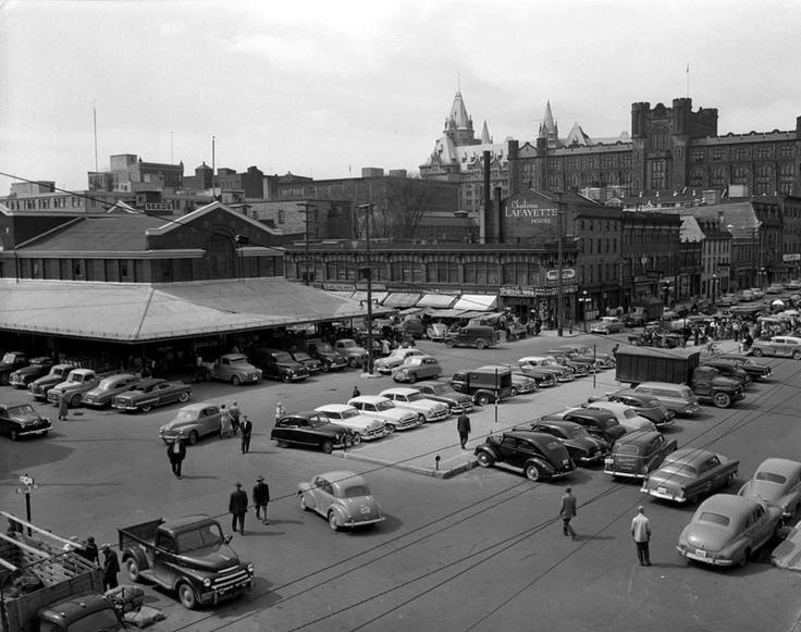 Ottawa's Byward Market -York Street 1954