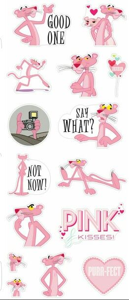 Stickers pink panther