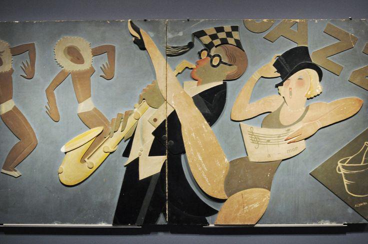 José de Almada Negreiros, conference O Desenho [Drawing], Madrid, 1927    [Jazz], 1929  Painel para a decoração interior do Cine San Carlos, Madrid  Panel for interior decoration of Cine San Carlos, Madrid