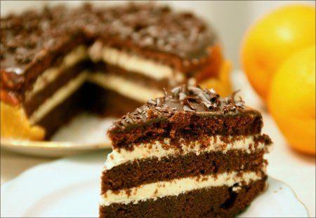 Новогодний шоколадно-апельсиновый торт