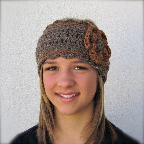 Knitting Pattern Adjustable Headband : adjustable ear warmer headband crochet pattern Knit ...