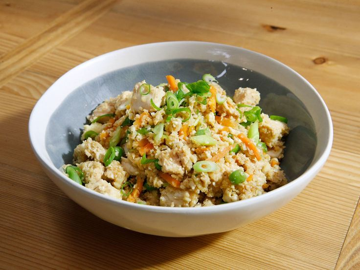 Chicken Cauliflower Fried Rice recipe from Katie Lee via Food Network - substitute different vegetables for low carb