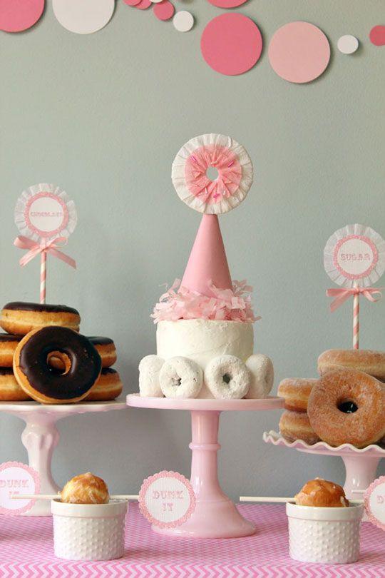 adult birthday donut
