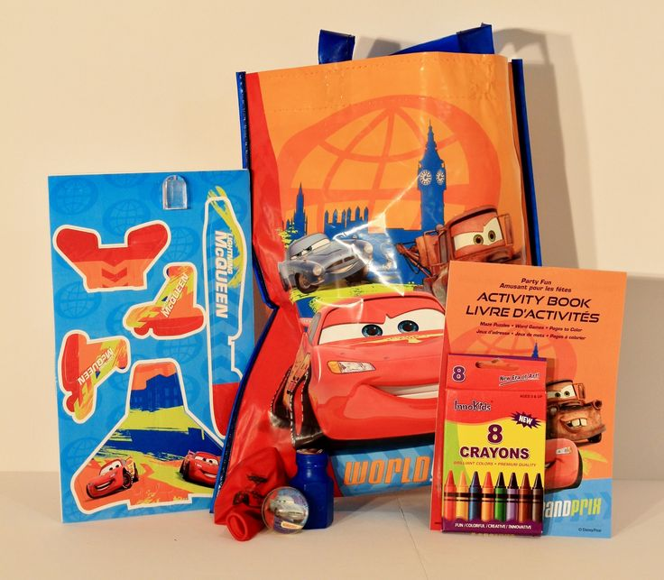 Cars Theme Swag Bag - Plenty of fun for the boys at your party