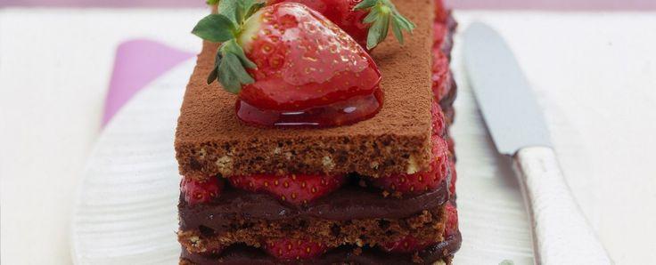 Torta alle fragole e cioccolato