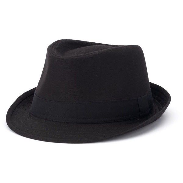 Men's Urban Pipeline® Solid Fedora ($20) ❤ liked on Polyvore featuring men's fashion, men's accessories, men's hats, black, mens flat hats, mens hats fedora, mens wide brim fedora, men's brimmed hats and mens fedora