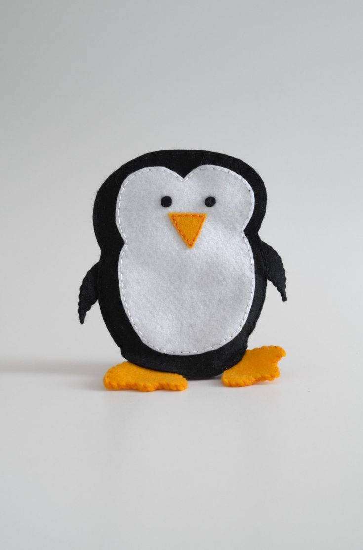 Penguin toy - penguin gift, penguin art, penguin decor, penguin love, penguin baby, penguin nursery - by FeltforAdults on Etsy