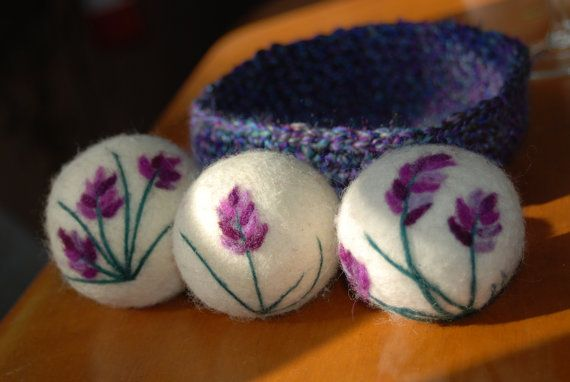 Wolle Trockner Kugeln Lavendel ätherisches von BondurantMountainArt