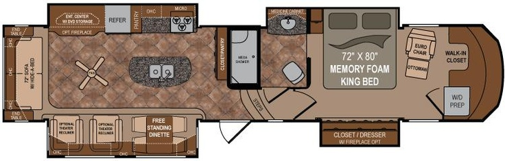 Dutchmen infinity fifth wheels 3860ms the chair in the - Infinity fifth wheel front living room ...