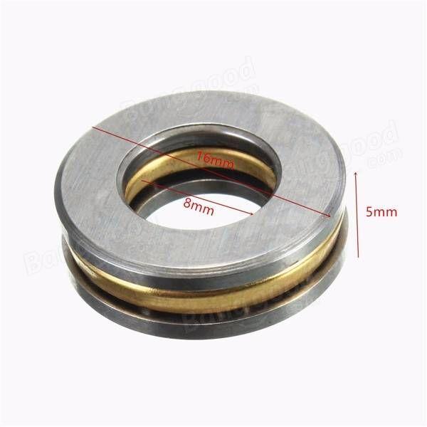 10pcs F8-16M 8x16x5mm Axial Ball Thrust Bearing 8mm x 16mm x 5mm