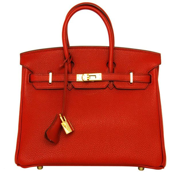 HERMES Red Togo Leather 2007 25cm Birkin Bag With Gold Hardware ...