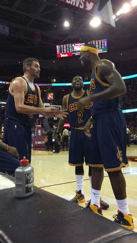 Kevin Love, Kyrie Irving, and Lebron James