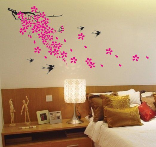 Amazon.com   Super Giant Easy Wall Decor Sticker Wall Decal   Cherry  Blossom,