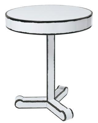 Scopri Tavolino d'appoggio The Trip Cartoon -/ Ø 50 x H 60 cm, Nero & Bianco di Seletti, Made In Design Italia