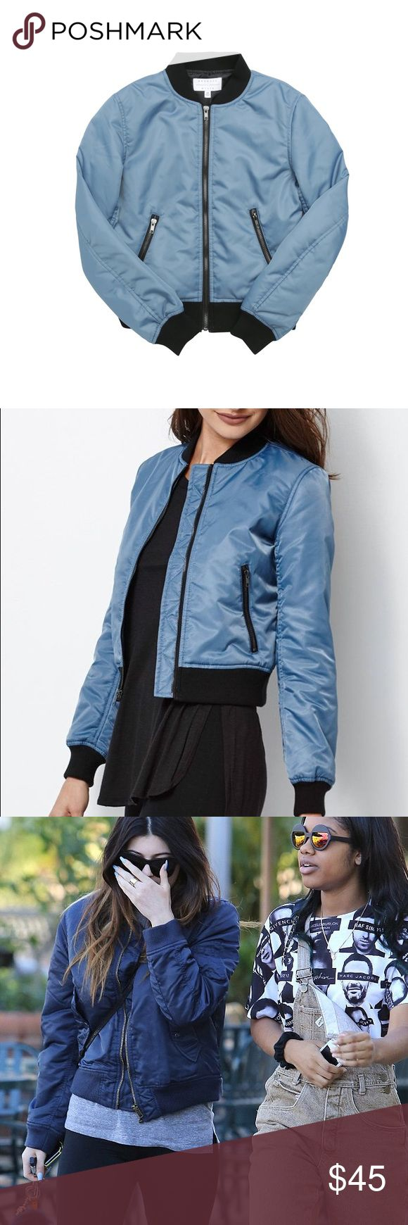 Blue Kendall & Kylie Bomber Jacket *Brand New* WOT Blue Kendall & Kylie Bomber Jacket *Brand New* WOT. I bought this jacket in the early spring time and wish I could wear it but it's way too big on me. It doesn't come with tags because I got clothes happy and ripped it off when I got it lol, and the only time I've worn it was to try it on. Please feel free to shoot me some offers, NO LOW BLOWS PLEASE I will reject you☺️🤗 Kendall & Kylie Jackets & Coats Utility Jackets