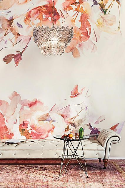 Anewall Rosella Wall Mural Wallpaper | Home Style Decor Selected by @StyleEntre