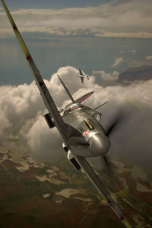 Polish 303 Squadron in British Air Force 1944 ,Spitfire Supermarine MK XIV. Screen from... ...game World of Worldplanes :)