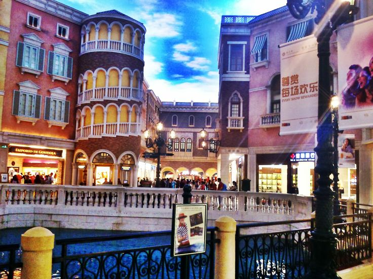 Gondola ride at venitian macau